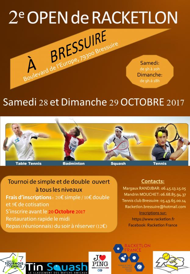 2ème Open de Racketlon